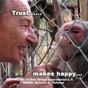 Trust makes happy Wildlife rescue
